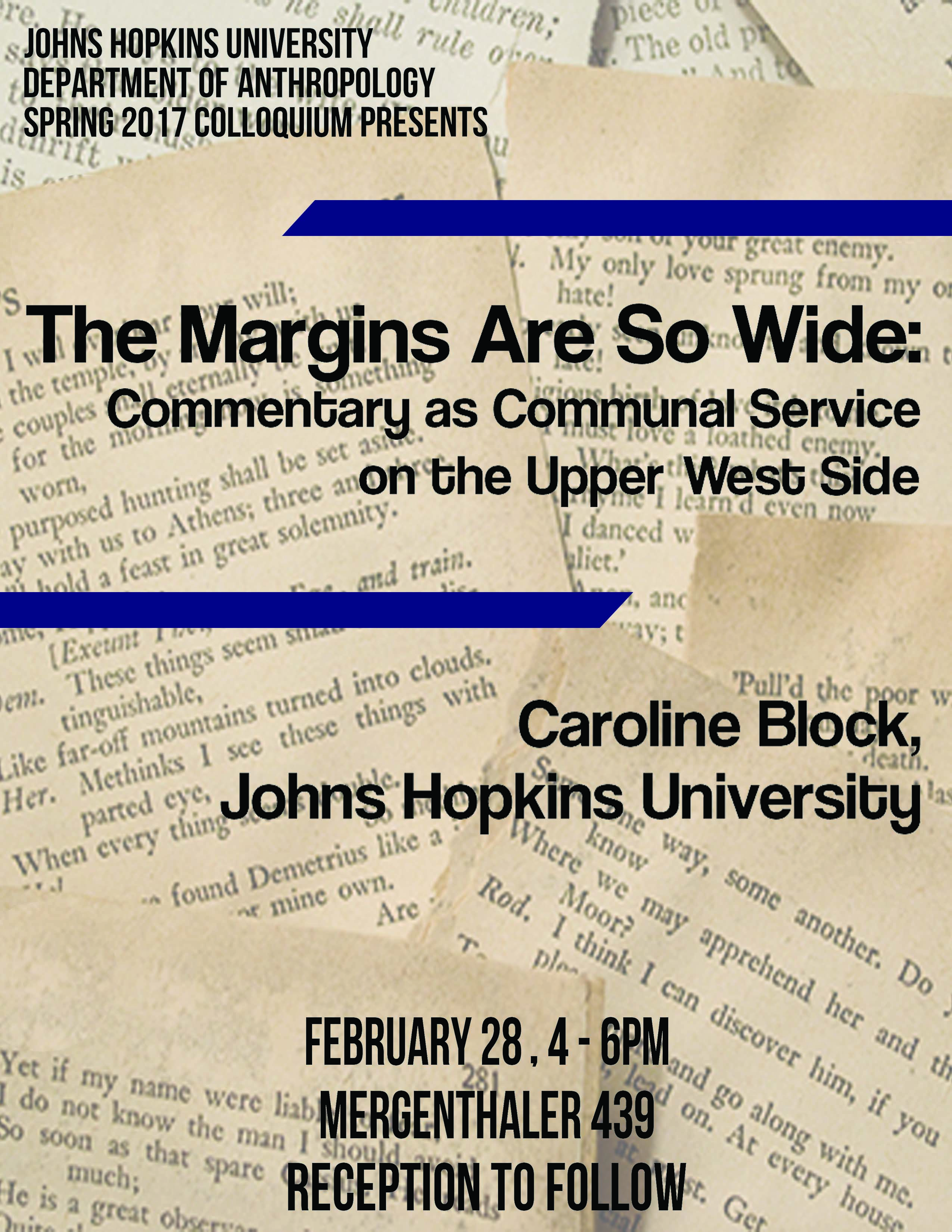 Margins Are So Wide:Commentary as Communal Service on the Upper West Side
